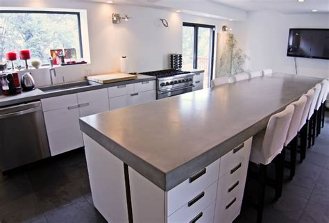 concrete kitchen tops and island modern kitchen