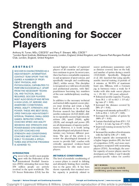 6 week youth pre season workout books strength and conditioning for soccer players