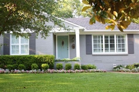 light gray house what color shutters gray house with dark gray shutters and blue door ext