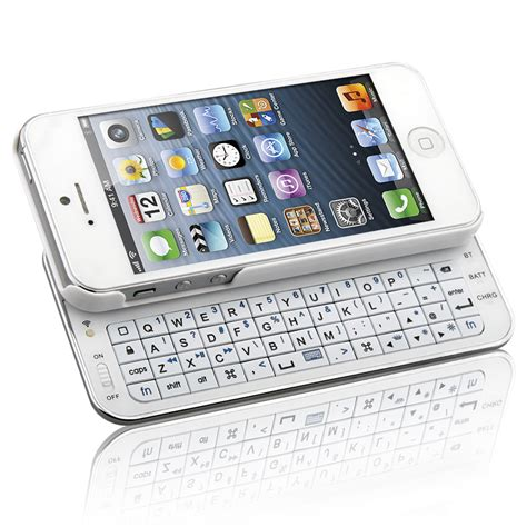 naztech  slideout keyboard  apple iphone  white