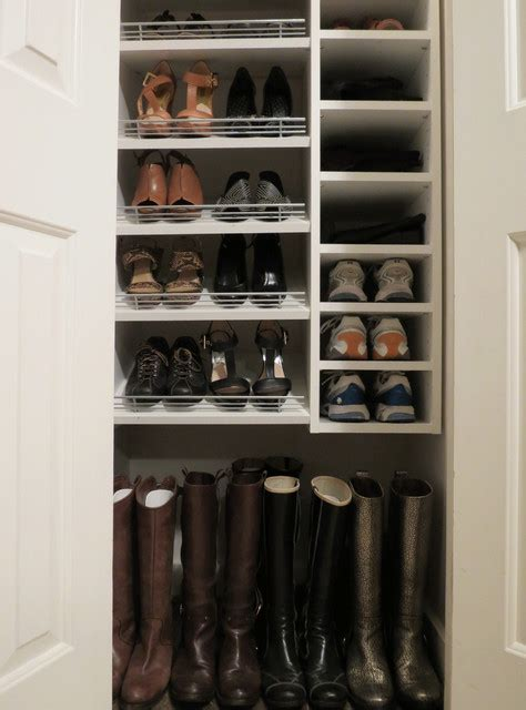 Rack New York by Custom Shoe Closet With Slanted And Flat Shelves