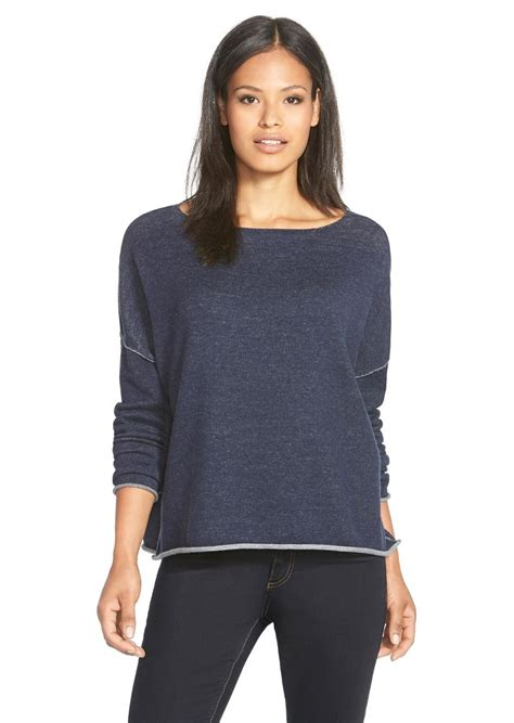 Boxy Sweater 6 eileen fisher eileen fisher plait detail organic cotton boxy sweater sweaters shop it to me