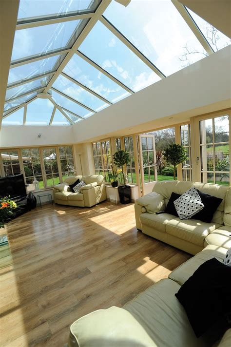 beautiful orangerysun room  ultra frame skylight