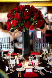 Red Flower Centerpieces - beautiful wedding centerpieces with red flowers ipunya