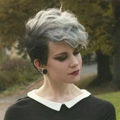 edgy gray hairstyles 50 best short pixie haircuts short hairstyles haircuts