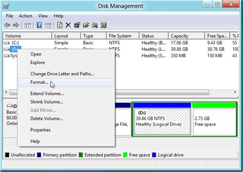 format hard disk for windows how to format hard drive partition in windows 8 with free