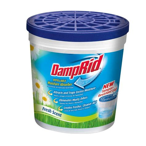 DampRid 10.5 oz. Fresh Scent Refillable Moisture Absorber (3 Pack) FG01KFSLBWS The Home Depot