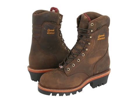 chippewa logger boots chippewa 9 quot waterproof insulated logger zappos