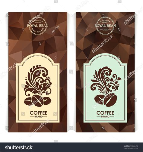 Vector Set Of Templates Packaging Coffee Label Banner Poster Identity Branding Abstract Coffee Label Design Template