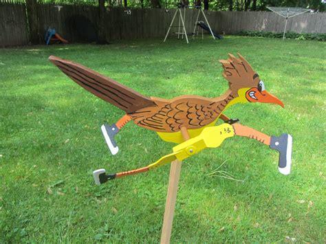 Handmade Yard - handmade wooden road runner shaped whirligig for your yard
