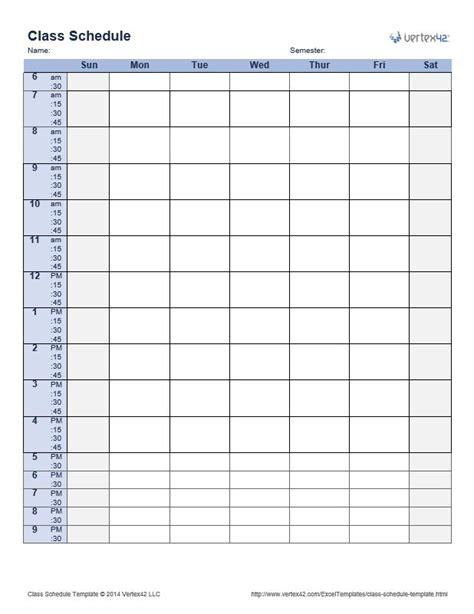 25 best ideas about schedule templates on pinterest