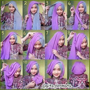 tutorial hijab pesta kombinasi warna koleksi kebaya hijab terbaru gebeet com