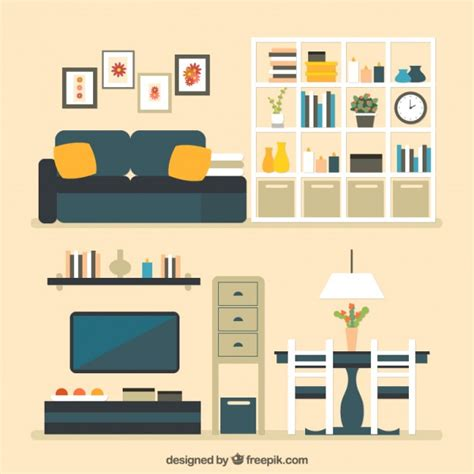 home interior vector house furniture vector free