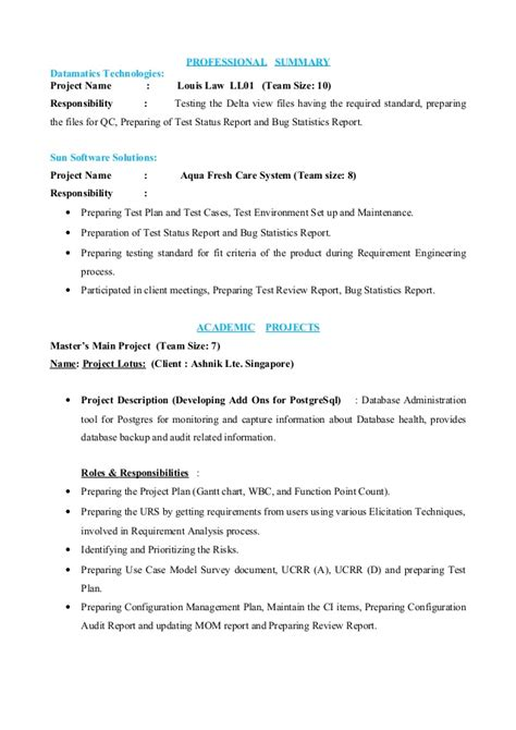 Ba Resume Sles by Resume Ba 28 Images Business Analyst Resume For Financial And Banking Domain Ba Resume