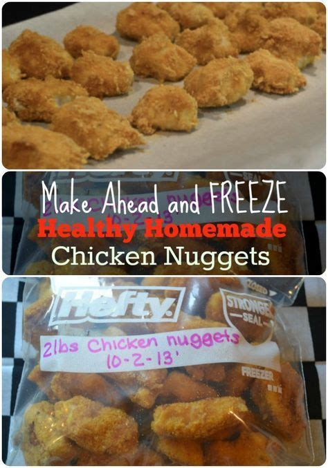 Freezer Nugget healthy freezer chicken nuggets great for easy weeknight