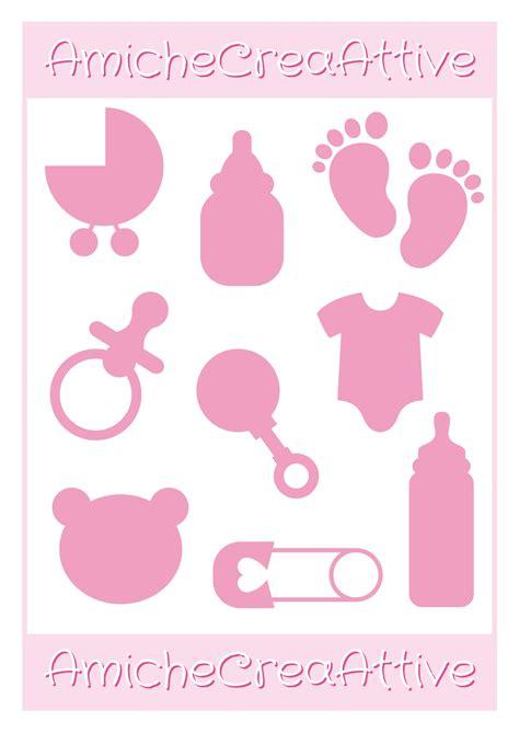 printable card for newborn baby girl amichecreaattive silouettes decorazioni in tema newborn