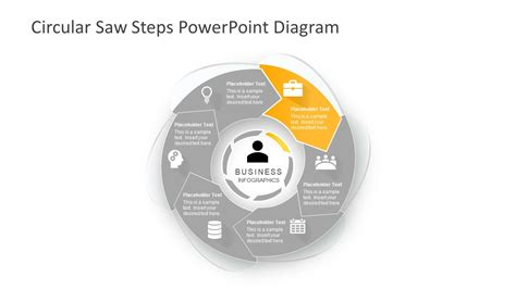 4 steps circular chevron powerpoint diagram slidemodel circular saw steps powerpoint diagram slidemodel