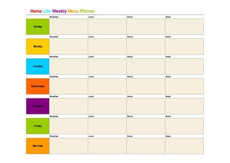 monthly dinner menu template printable weekly dinner menu planner template meal