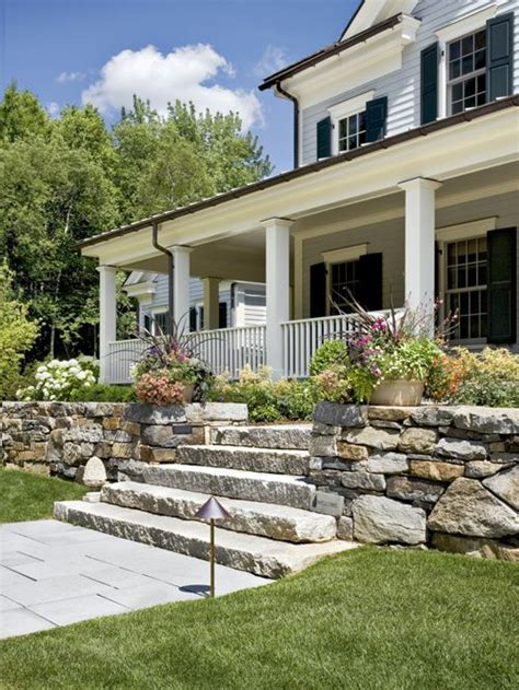 stone porch steps home design ideas pictures remodel and decor