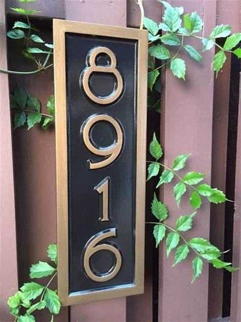 vertical house number signs vertical house number sign with mid century modern font