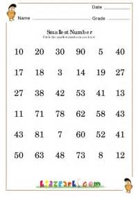ordering numbers worksheet for grade 2 math counting