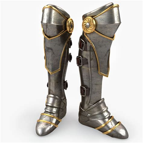 armour boots 3d model armor boot v2