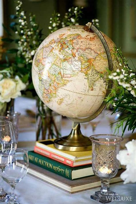 travel themed table decorations 20 awesome travel themed wedding ideas the wedding of my