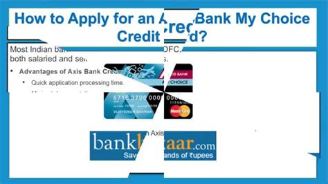 Credit Card Form Of Axis Bank How To Apply For An Axis Bank My Choice Credit Card