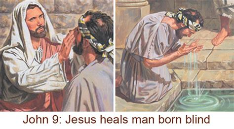 jesus heals a born blind why did jesus put spit on the blind polination