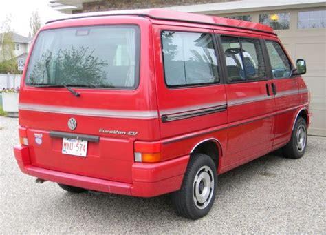 volkswagen eurovan westfalia vw rare full camper van original owner classic