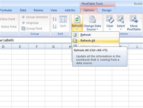 excel 2007 pivot table format lost on refresh how to pivot table excel 2010 excel 2010 creating