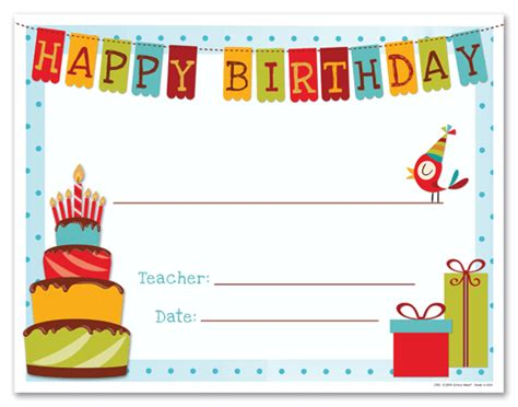 Free Printable Birthday Gift Certificates Happy Birthday Gift Certificate Template Primary