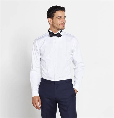 Get The Look Lewiss Tuxedo T Shirt by Cotton Wing Tip Shirt The Black Tux