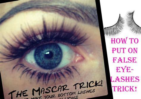 how to put on false eyelashes trick