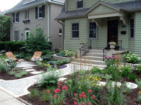 cottage garden with curb appeal traditional landscape