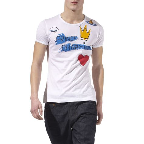 vivienne westwood t shirt vivienne westwood prince charming t shirt in white for men