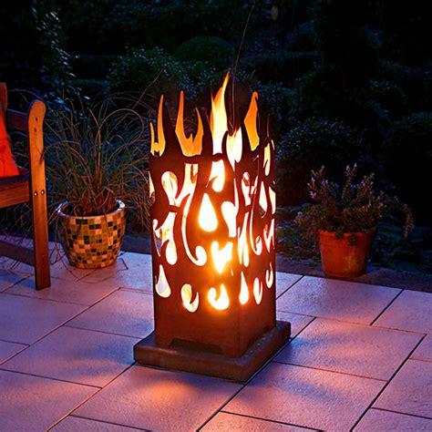 ein feuer im garten feuerkorb burning rechteckig g 228 rtner p 246 tschke
