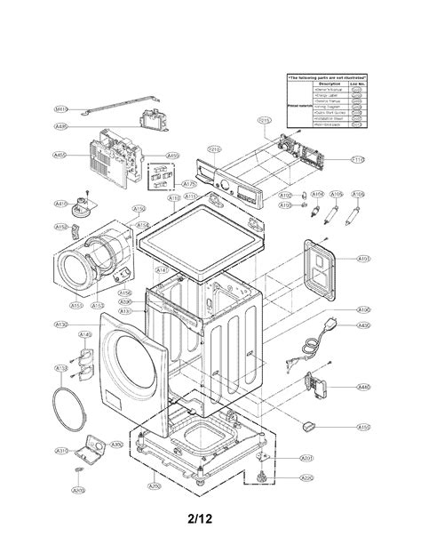 lg front load washer parts diagram lg washing machine parts model wm3070hwa sears partsdirect