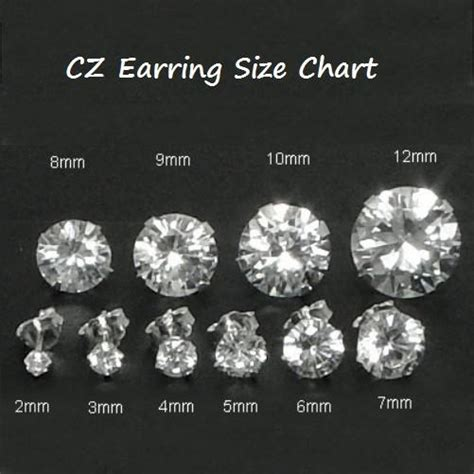 Circle Rhinestone 4mm 925 sterling silver brilliant cut clear cz stud