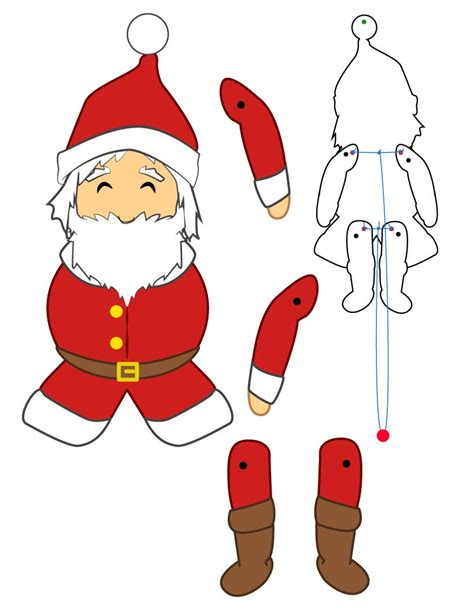 santa claus craft template success sprinters esl world languages quot think quot
