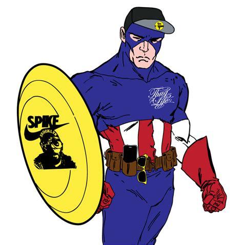 jello with captain captain america yellow panti