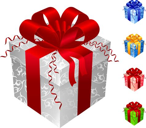 gift for man hd image お洒落なリボンの色違いのプレゼント箱 color gift packaging vector イラスト素材 ai eps イラストレーター