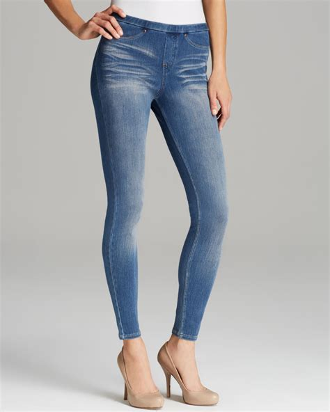Denim Legging hue original distressed jean in blue lyst