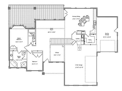 rambler floor plans with bonus room eplans ranch house plan rambler with finished basement