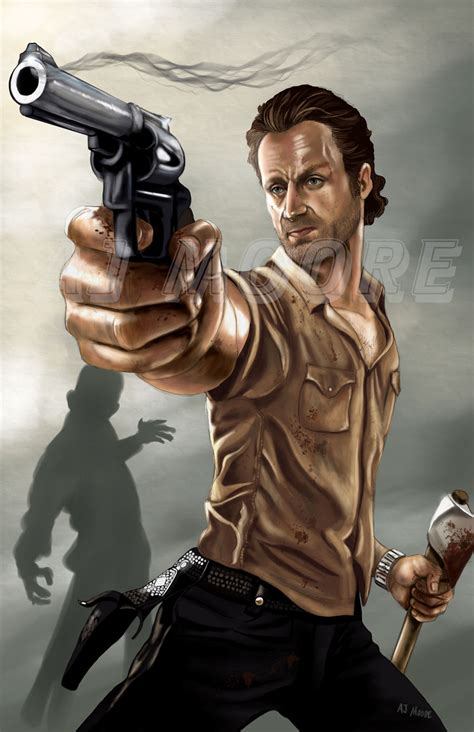 rick grimes by aj moore by gudfit on deviantart