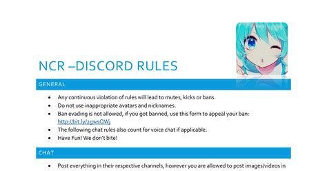 discord rules ncr rules discord docx docdroid