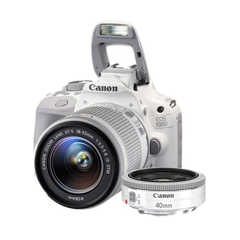Canon Eos 100d Kit 18 55mm Is Stm 2 jual canon eos 100d kit 18 55mm 40mm is stm putih