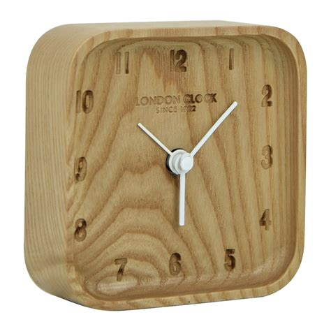 wood clock buy blokk wood alarm clock online purely wall clocks