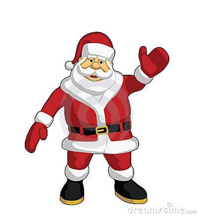 santa claus waving royalty free stock photography image