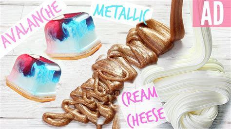 metallic slime tutorial indonesia how to make avalanche slime cream cheese slime and